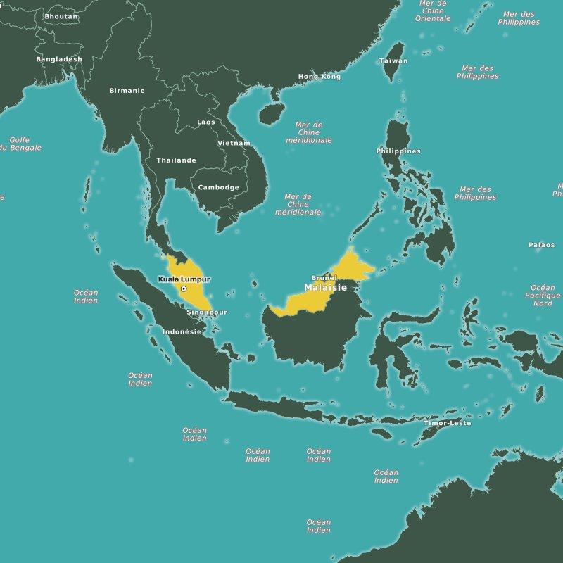 carte Malaisie