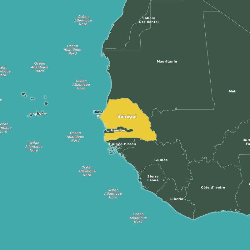 carte Sénégal