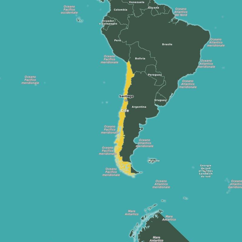mappa Cile
