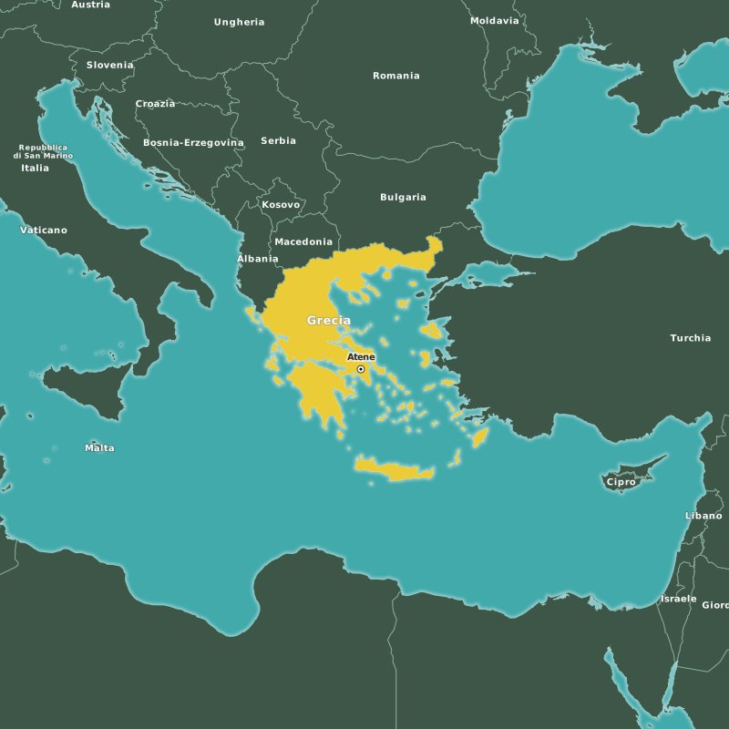 mappa Grecia
