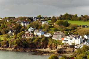 Europe, Irlande, Killarney, île, village, maison, plage, arbre,
