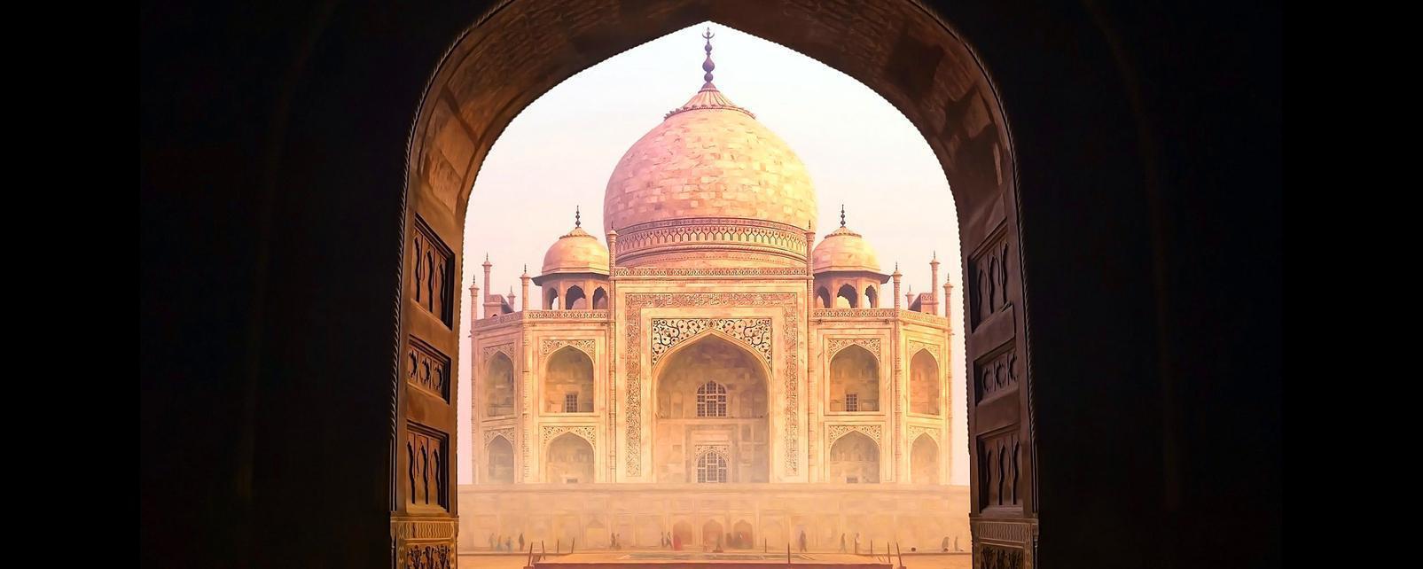 Asie, Inde, Agra, Taj Mahal, architecture, palais,