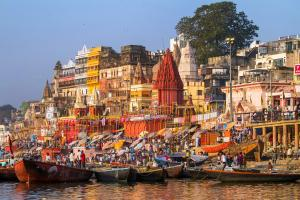 Asie, Inde, Uttar Pradesh, Varanasi, Gange, ghat, rive, ville sainte, Bénarès, barque,
