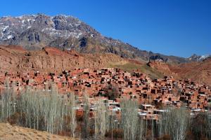 Moyen-Orient, Iran, Abyaneh, village, maison, montagne,