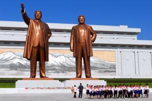 Asie, Corée du Nord, Pyongyang, Mansudae, statue, monument,