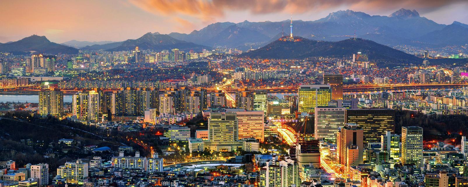 Asie, Corée du Sud, Séoul, ville, montagne, building,