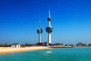 Moyen-Orient, Koweït, Koweit, plage, sable, mer,