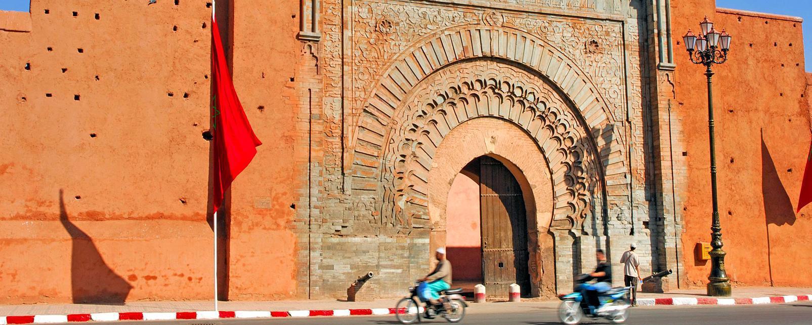 Afrique, Maroc, Marrakech, forteresse, médina, entrée, ville,