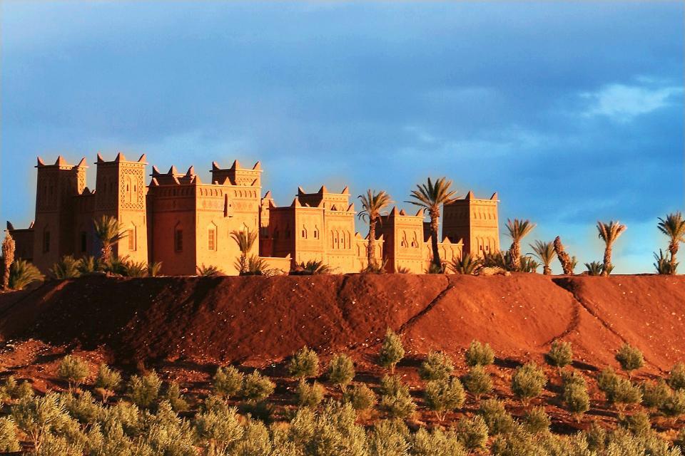 Afrique, Maroc, vallée, maison, palmier, dune, sable,
