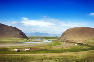 Asie, Mongolie, steppe, prairie, yourte, cheval, lac, montagne,