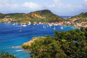 Caraïbes, Martinique, île, voilier, bateau, maison, ville, montagne, arbre,