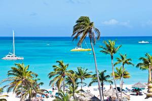 Caraïbes, Aruba, Bonaire, Curaçao, plage, voilier, baignade,