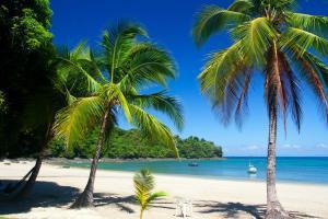 Amérique, Amérique du Sud, Panama, île, Isla Coiba, plage, baignade, bateau,