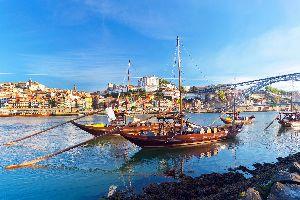 Europe, Portugal, Porto, bateau, ville, pont, rivière, immeuble, bâtiment,