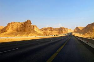 Moyen-Orient, Arabie Saoudite, Riyadh Makkah, Mecca, route, désert,