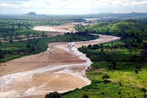 Afrique, Tchad, fleuve, rivière, montagne, arbre, végétation,