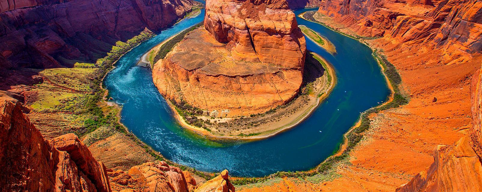 Amérique, Amérique du Nord, Etats-Unis, Arizona, Colorado, USA, Glen Canyon, Horseshoe bend