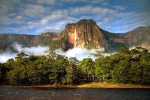 Amérique, Amérique du Sud, Venezuela, Salto Angel, cascade, Canaima, parc national, chute,