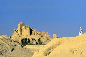 Moyen-Orient, Yémen, Wadi Hadramaout, village, désert, homme,
