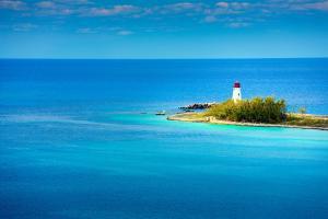 Caraïbes, Bahamas, phare, océan, île,