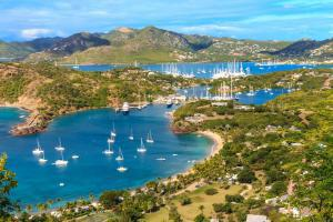Caraïbes, Antigua et Barbuda, Antigua Bay, Shirely Heights, plage, voilier,