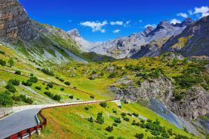Europe, Suisse, Alpes, montagne, route, ciel,