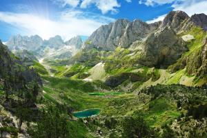 Europe, Albanie, montagne, lac, arbre, Alpes, rocher,