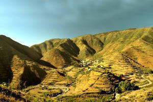 Afrique, Erythrée, Asmara, Massawa, village, montagne, maison