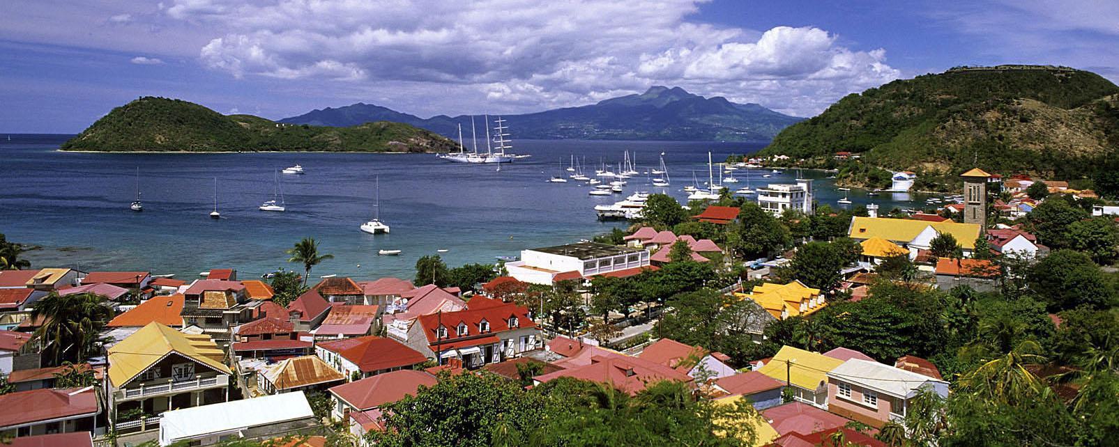 Caraïbes, Guadeloupe, Saintes, île, bateau, maison, voilier,