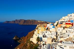 Europe, Grèce, Cyclades, Santorin, Oia, île, ville, mer, montagne,
