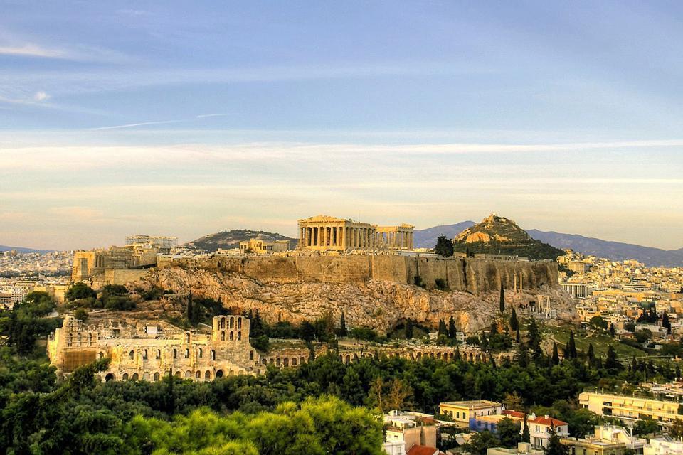 Europe, Grèce, Athènes, Acropole, ruines, ville,