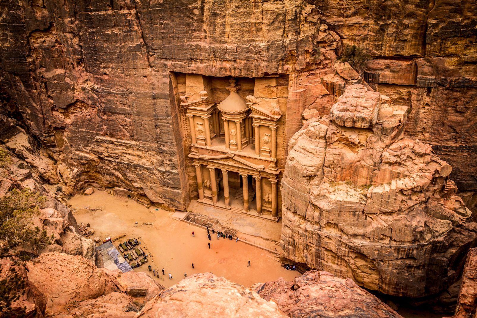 Jordanie, moyen-orient, désert, pétra, Khazneh, troglodyte