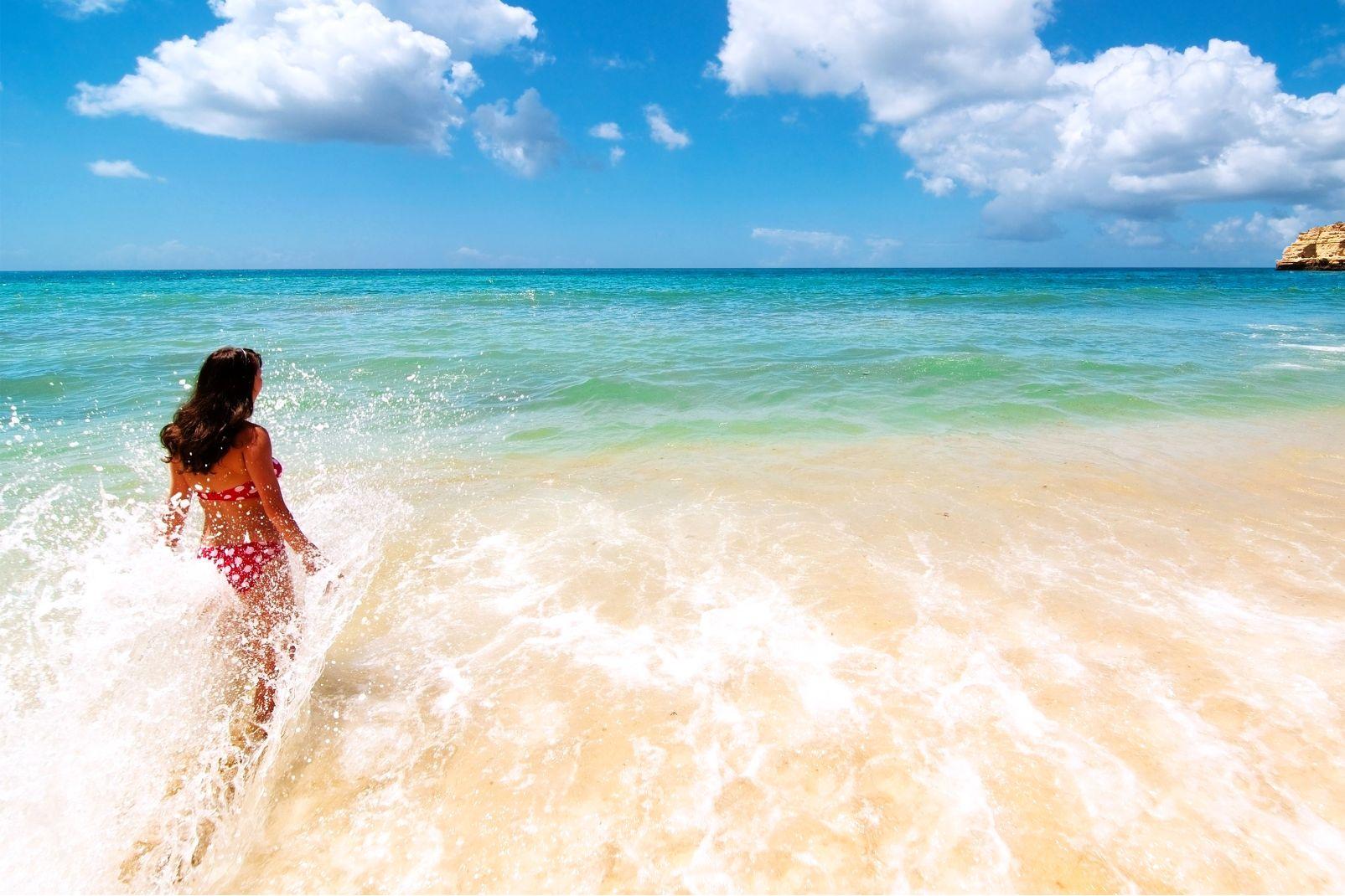 Liban, moyen-orient, méditerranée, montagne, femme, vacances, baignade, nageuse