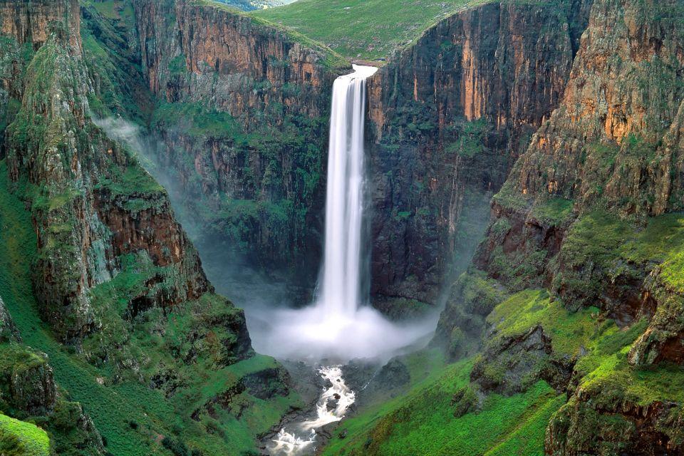 afrique, lesotho, cascade, eau, chute