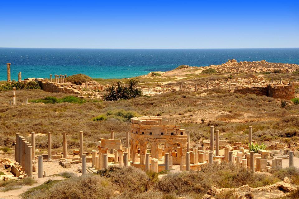 afrique, libye, leptis, magna, ruine, romaine, tripoli