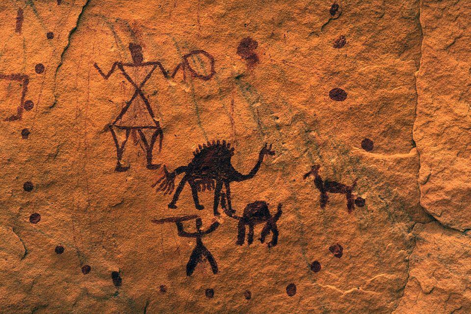 afrique, libye, peinture, rupestre, desert, akakus