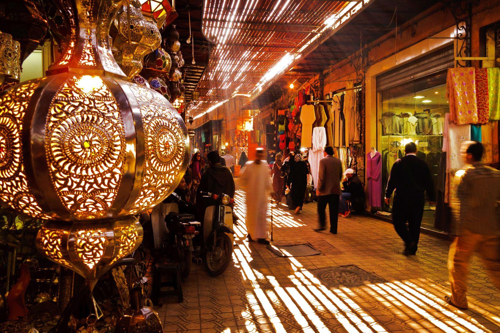 Afrique, Maroc, souk, marrakesh