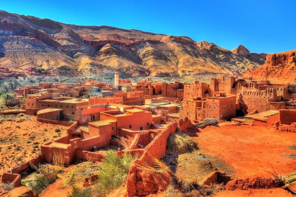 Afrique, Maroc, désert, Bou Tharar, village