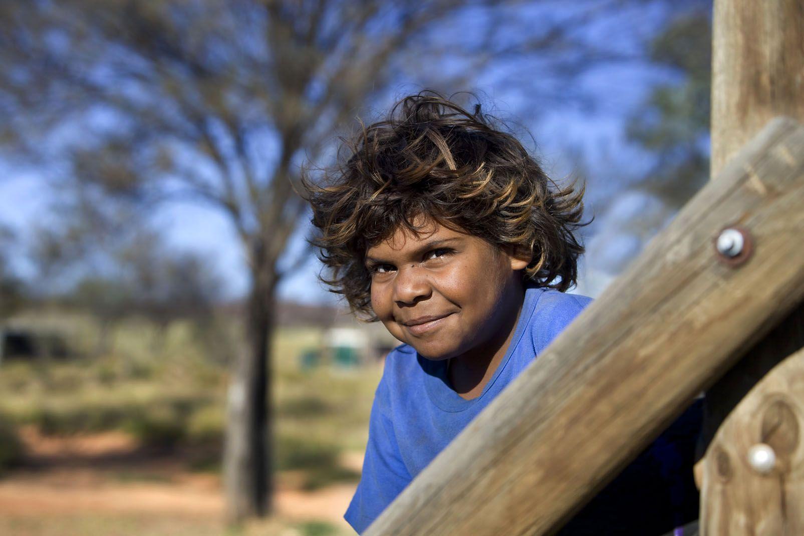 Océanie, australie, gars, aborigène