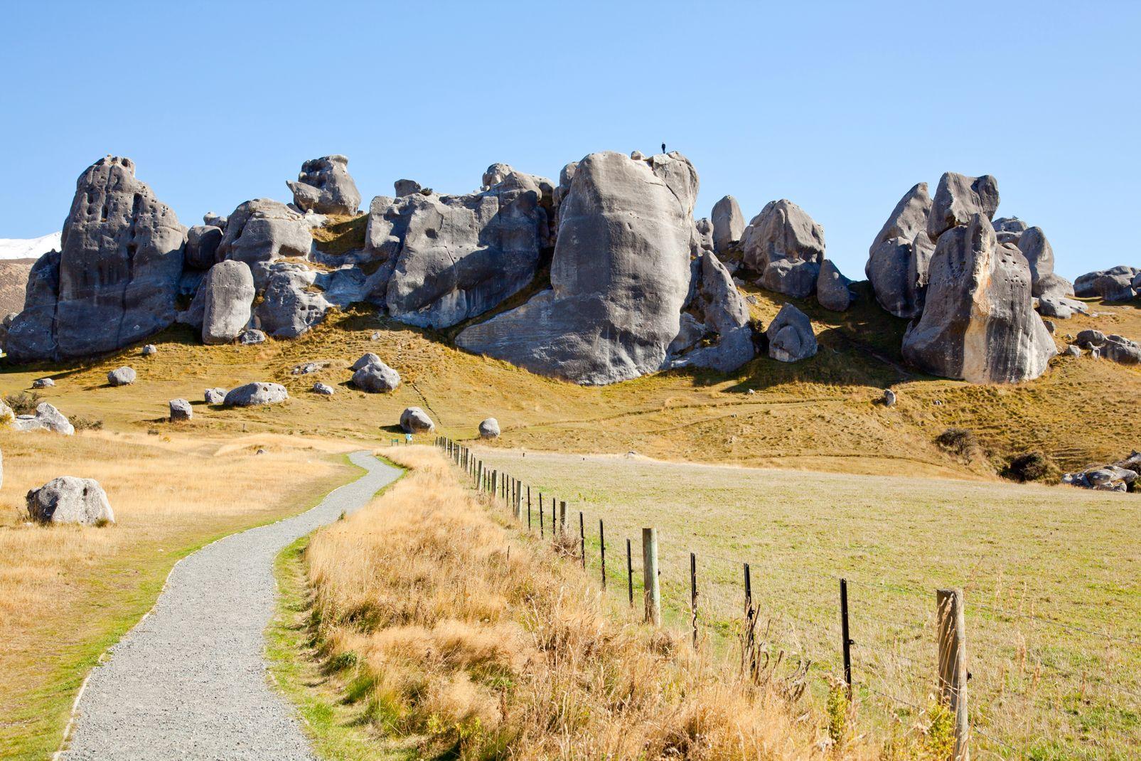 Nouvelle-Zélande, Stone Mountain à Castle Hill