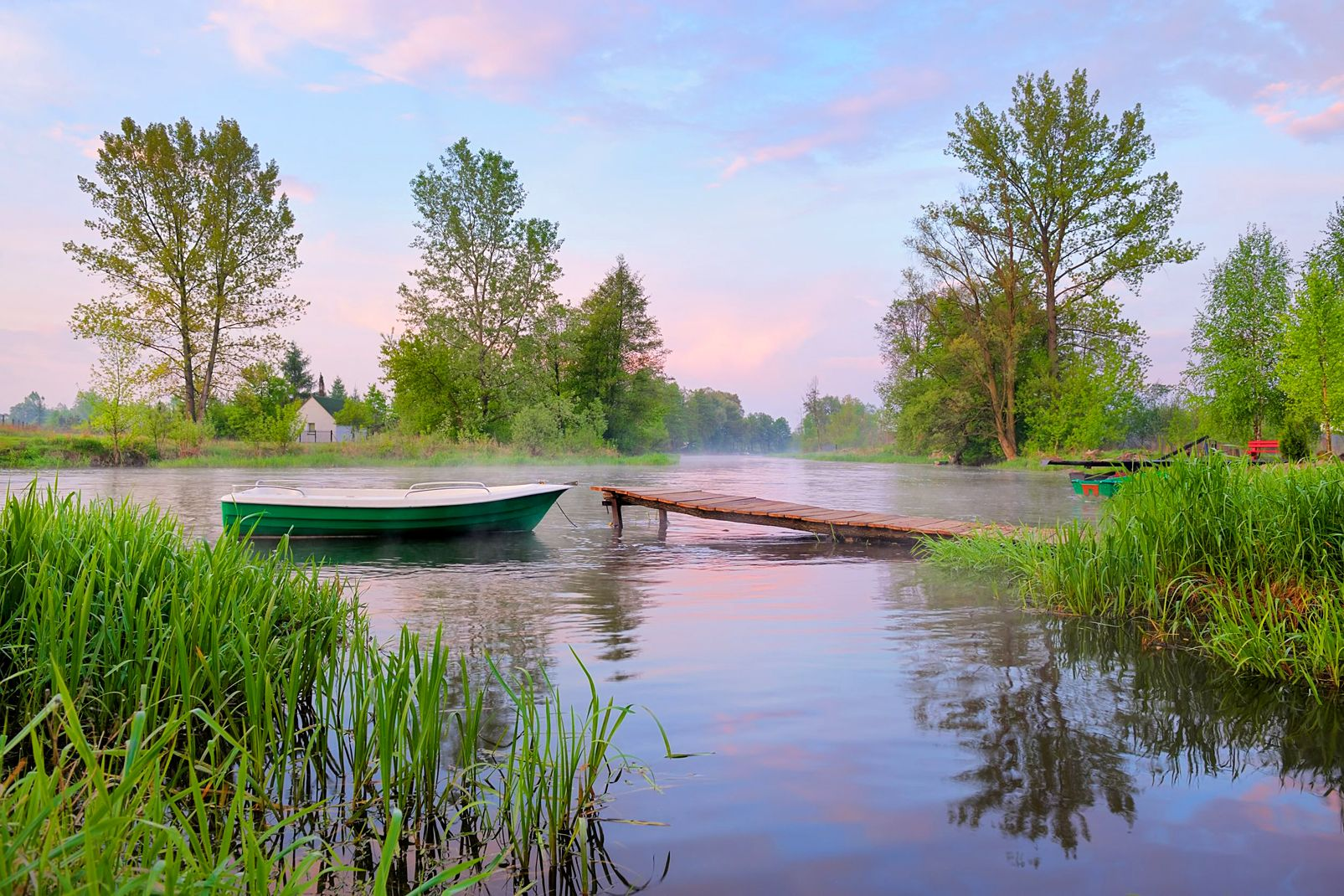 Pologne, Paysage rural sur la rivière Narew