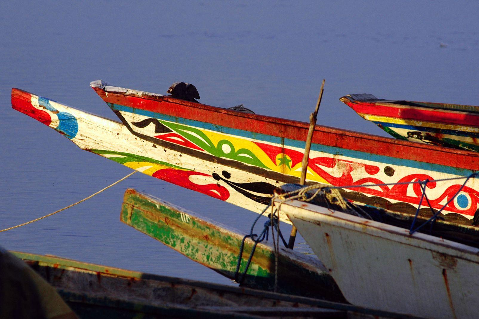 afrique, sénégal, barque, pêche