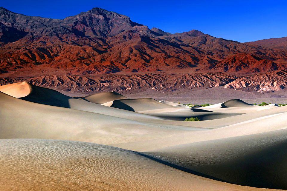 arique, tchad, montagne, marron, sable, dune