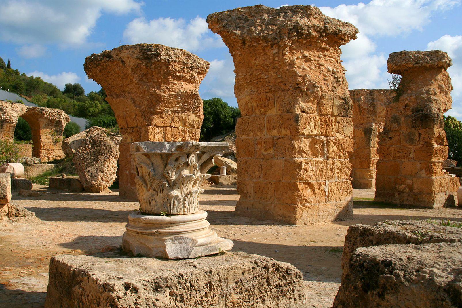 Tunisie, afrique, carthage, romain, ruine