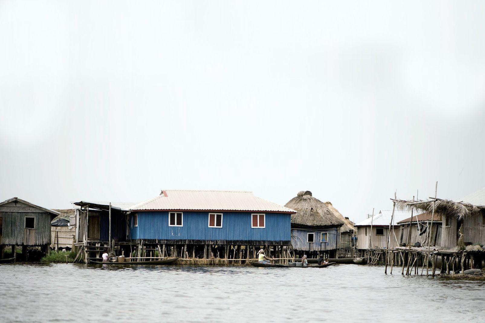 Afrique, Bénin, Stilt, Ganvié, Village, Maison, eau