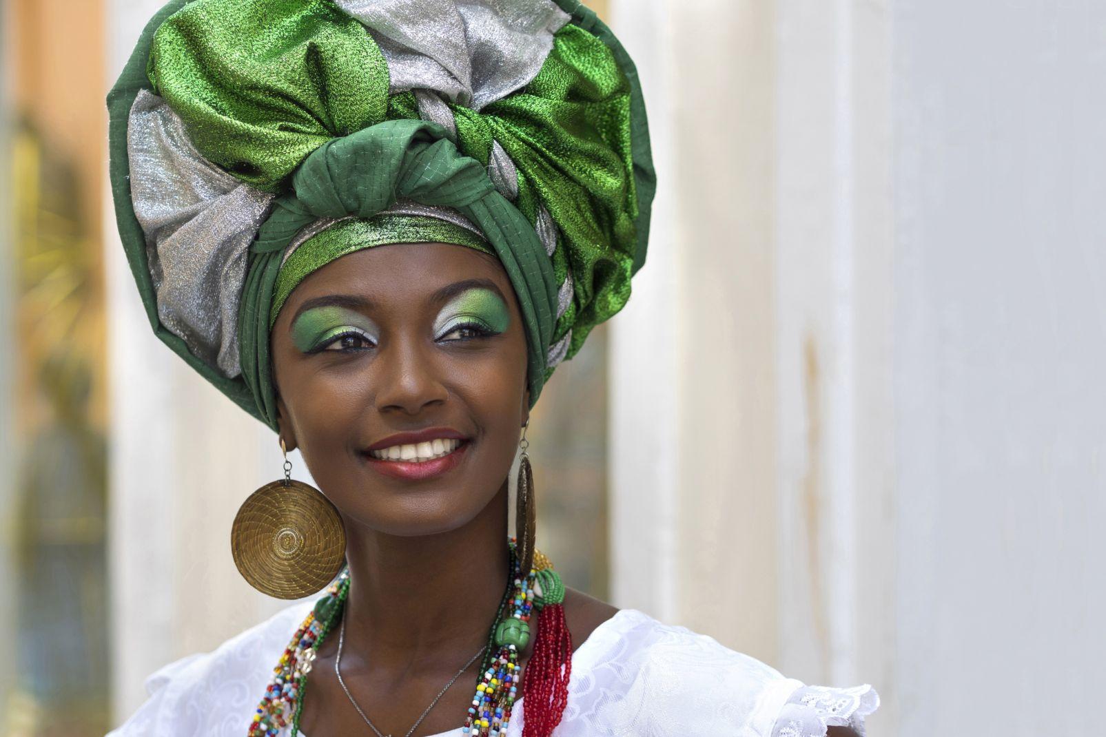 bahia, bahiana, baiana, amérique, sud, brésil, portrait, femme, ethnie