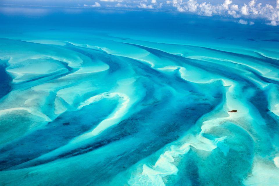 Caraïbes, bahamas, plage, mer, sable, vue aérienne