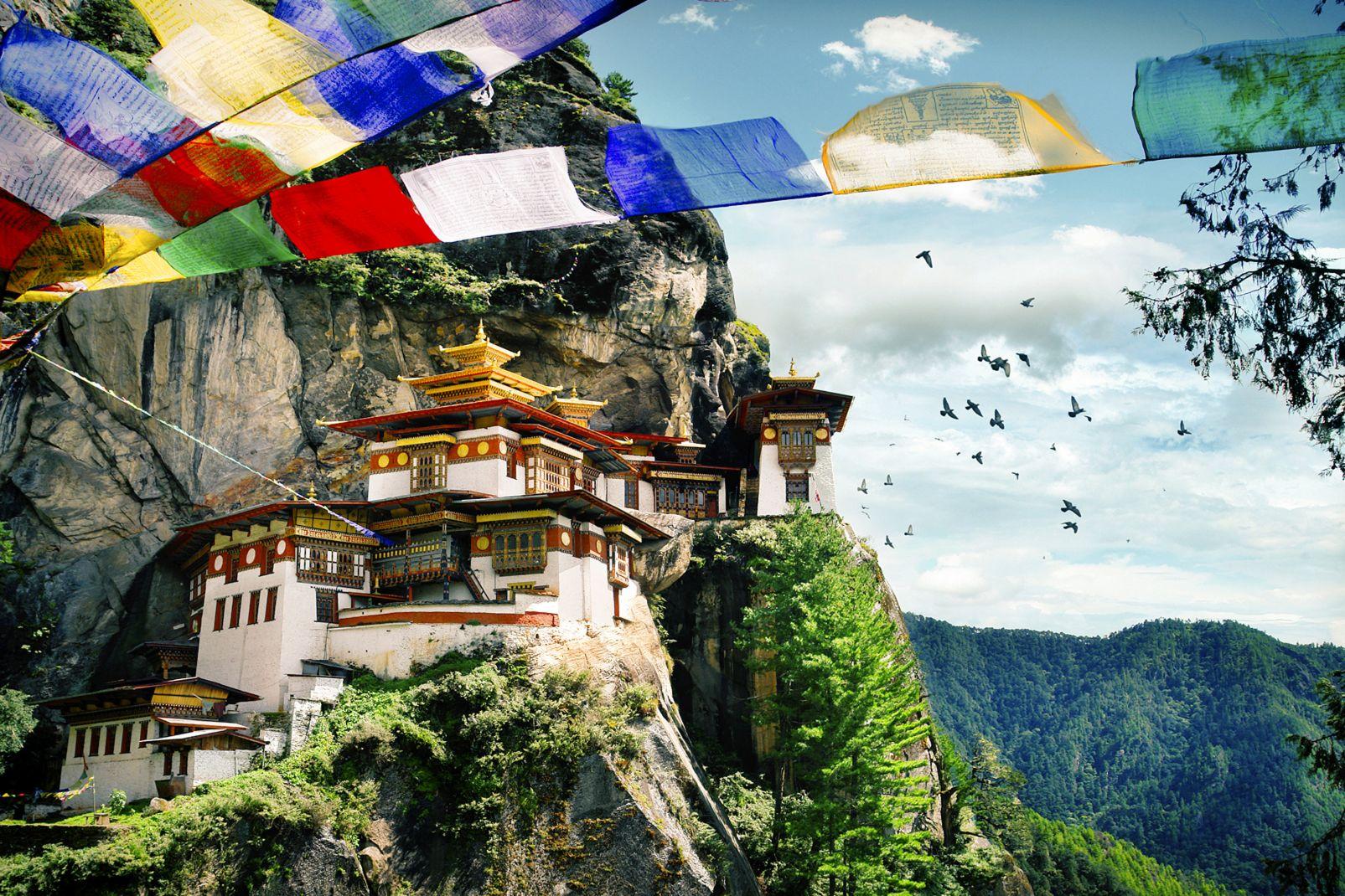 Asie, bhoutan, dzong, monastère, religion, bouddhisme