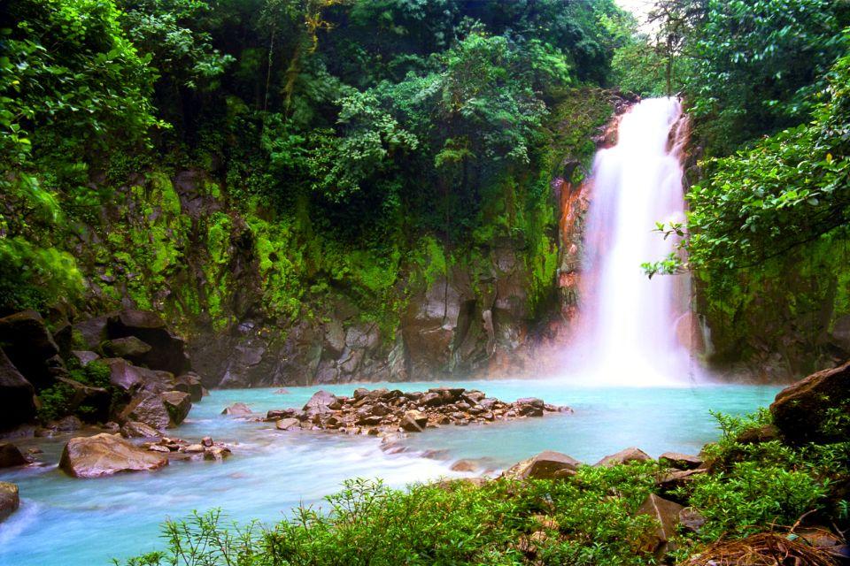 amérique, sud, costa rica, cascade, eau, chute, rio, céleste, volcan, tenorio