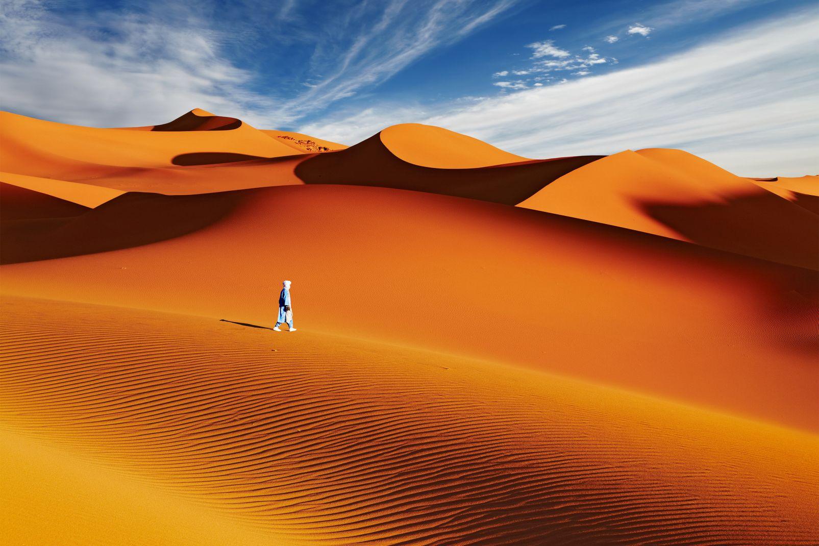 Afrique, Algérie, Sahara, Dune, Roche, Sable